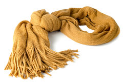 Yellow scarf. On white background Stock Photography