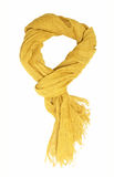 Yellow scarf stock image