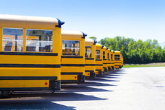 Yellow School Bus. With Blue Sky stock photography