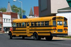 Yellow school bus Stock Photos