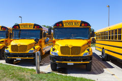 Yellow School Bus. With Blue Sky royalty free stock photos