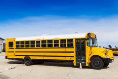 Yellow School Bus. With Blue Sky royalty free stock images