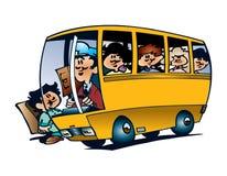 Yellow school bus illustration Stock Images