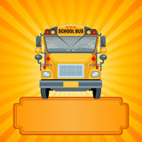 Yellow school bus Stock Images
