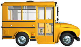 Yellow School Bus Illustration isolated Royalty Free Stock Image