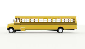 Yellow school bus isolated on white Royalty Free Stock Photos