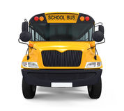 Yellow School Bus. Isolated on white background. 3D render Royalty Free Stock Images