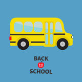 Yellow school bus kids. Cartoon clipart. Stock Image