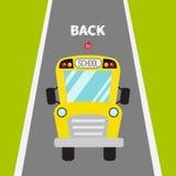 Yellow school bus kids.  Royalty Free Stock Image