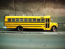 Yellow school bus. royalty free stock photo