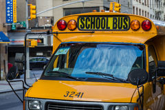 A yellow school bus in New York Royalty Free Stock Photo