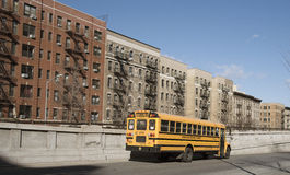 Yellow school bus New York USA Royalty Free Stock Photography