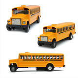 Yellow school bus toy Royalty Free Stock Photo