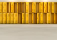 Yellow School Lockers Royalty Free Stock Photography