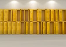 Yellow School Lockers Stock Image