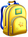 A yellow schoolbag Royalty Free Stock Images