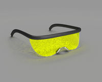 Yellow science eyewear Royalty Free Stock Image