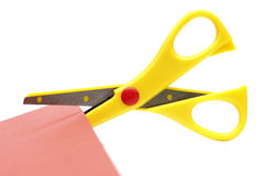 Yellow scissors Royalty Free Stock Photography
