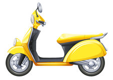 A yellow scooter. Illustration of a yellow scooter on a white background Royalty Free Stock Photos