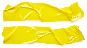 Yellow scotch tape Royalty Free Stock Images