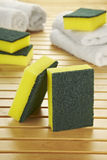 Yellow scourer composition Royalty Free Stock Images