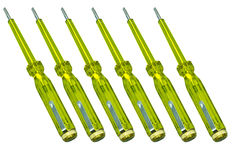 Yellow Screwdriver Stock Photo