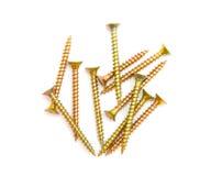 Yellow screws Stock Image