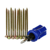 Screws and screwdriver Stock Photography