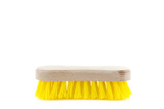 Yellow scrubbing brush Stock Photography
