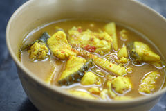 Yellow sea food curry Royalty Free Stock Images
