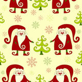 Yellow seamles christmas pattern 4. Royalty Free Stock Photography