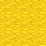 Yellow seamless abstract hand-drawn pattern Stock Photography