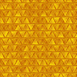 Yellow seamless abstract triangles background Royalty Free Stock Images