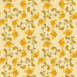 Yellow seamless background. Royalty Free Stock Images