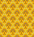 Yellow Seamless background. Yellow Seamless abstract decorative floral background Stock Photo