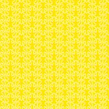 Yellow seamless background twisted lines. White twisted lines designing wave shapes over a bright sunny yellow background Stock Photography
