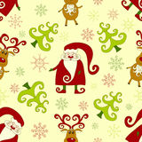 Yellow seamless christmas pattern 2. Royalty Free Stock Photography