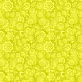 Yellow seamless floral pattern Royalty Free Stock Images