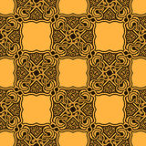 Yellow seamless ornament Stock Image