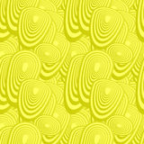 Yellow seamless oval pattern Royalty Free Stock Photos