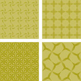 Yellow seamless pattern background set Royalty Free Stock Photos