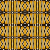 Yellow seamless pattern made from colorful butterfly wing for ba Royalty Free Stock Photo