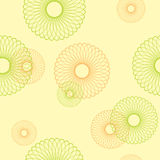 Yellow seamless pattern with round elements Royalty Free Stock Image