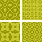 Yellow seamless pattern set. Yellow seamless curved pattern background set Royalty Free Stock Photo