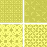 Yellow seamless pattern set. Yellow seamless curved pattern background set Royalty Free Stock Image