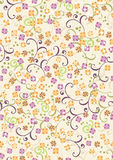 Seamless Pattern with Small Flowers Stock Photo