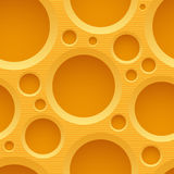 Yellow seamless plastic background with holes Stock Image