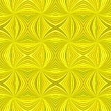 Yellow seamless psychedelic geometrcial swirl stripe pattern background. Vector burst design royalty free illustration