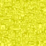 Yellow seamless rectangle background Stock Images
