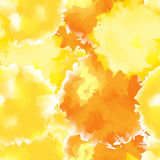 Yellow seamless watercolor texture background. Stock Images